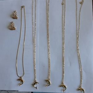Jewelry - Collection of gold filled dolphins